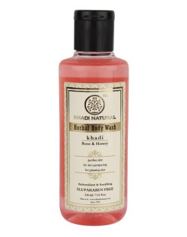 Khadi Natural Rose & Honey Body Wash