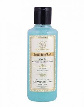 Khadi Natural Aloe Vera Face Wash with scrub 210ml