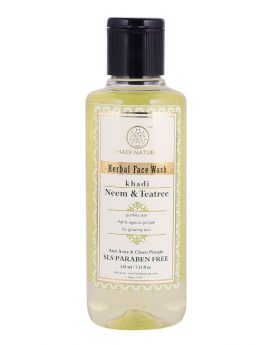 Khadi Natural Neem & Tea Tree Face Wash Buy in Dubai