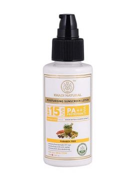 Khadi Natural Sunscreen Moisturizing Lotion - SPF 15 100ml