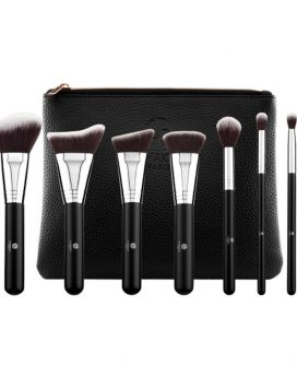 "LP Makeup Set of Seven professional brushes ""L'accessoire"" + leather bag"